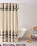 HARDING WOVEN SHOWER CURTAIN IN IVORY