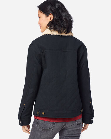 ADDITIONAL VIEW OF WOMEN'S SIDNEY QUILTED BARN COAT IN BLACK