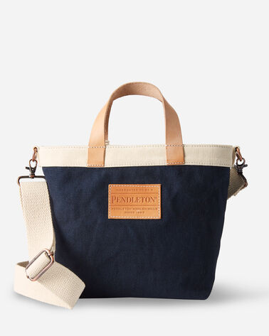 ALTERNATE VIEW OF SWEET WATER SMALL COTTON TOTE IN BLUE