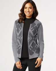 DIAMOND CARDI, BLACK/WHITE, large