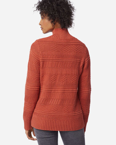 ADDITIONAL VIEW OF WOMEN'S TEXTURED SWEATER IN PICANTE