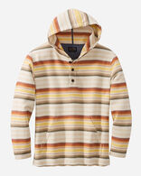 SERAPE STRIPE HOODIE POPOVER IN TAN/COPPER