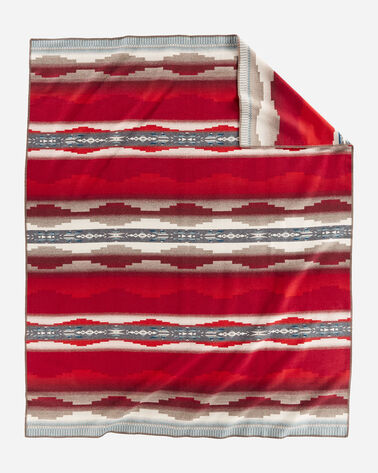 ALTERNATE VIEW OF ALAMOSA BLANKET IN RED MULTI