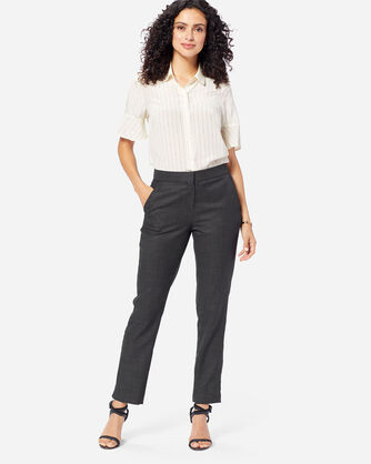 WOMEN'S CORBY WOOL PANTS, CHARCOAL, large
