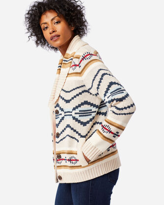 WOMEN'S CURRENTS CARDIGAN IN NATURAL HEATHER