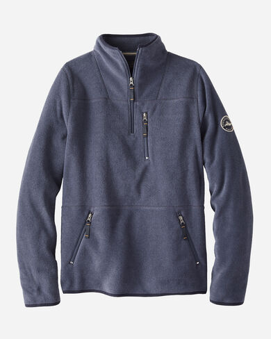 MEN'S FLEECE HALF-ZIP IN NAVY HEATHER