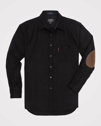 LONG-SLEEVE FITTED TRAIL SHIRT, BLACK, large