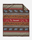 PINE LODGE BLANKET, BROWN, large
