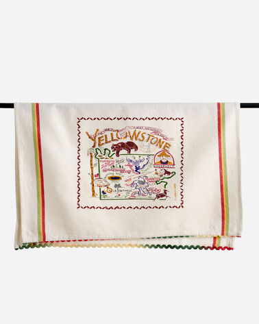 NATIONAL PARK EMBROIDERED DISH TOWELS IN YELLOWSTONE