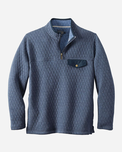 STEENS QUILTED POPOVER IN NAVY HEATHER