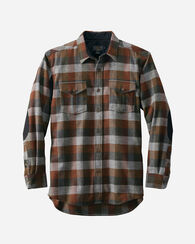 MOONRISE OUTDOOR SHIRT, GREEN/RUST CHECK, large