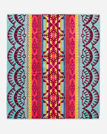 POINT REYES TOWEL FOR TWO IN AQUA MULTI