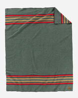 YAKIMA CAMP BLANKET, GREEN HEATHER, large