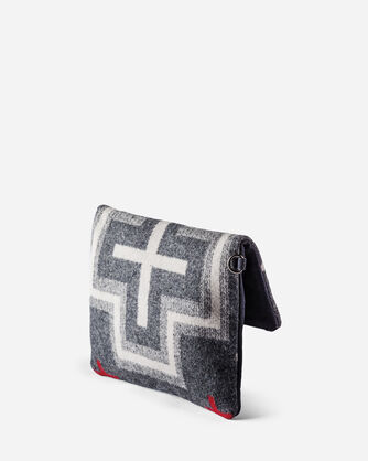 FOLDOVER CLUTCH, SAN MIGUEL GREY, large