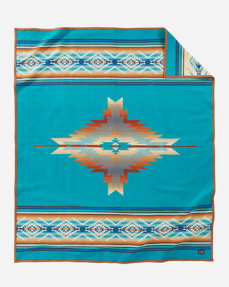 PAGOSA SPRINGS BLANKET IN TURQUOISE