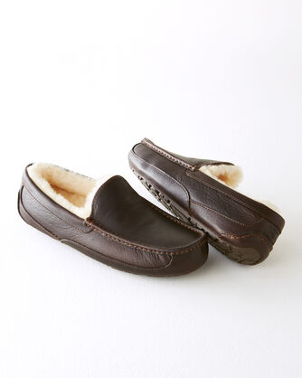 ADDITIONAL VIEW OF ASCOT INDOOR/OUTDOOR SLIPPERS IN CHINA TEA BROWN