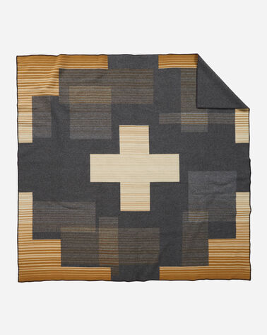 ADDITIONAL VIEW OF COMPASS POINT BLANKET IN GREY