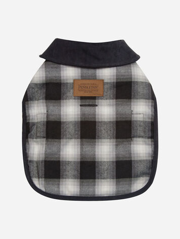 CHARCOAL OMBRE PLAID DOG COAT IN SIZE X-SMALL