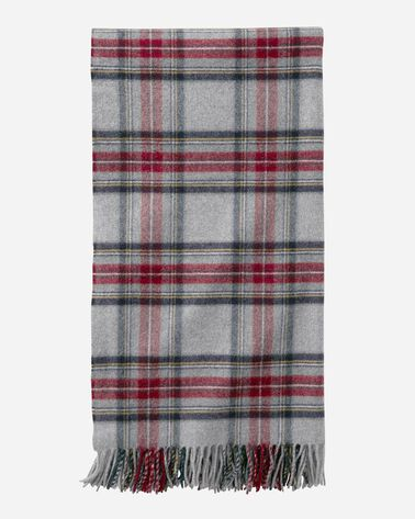 PLAID 5TH AVENUE THROW, GREY STEWART, large