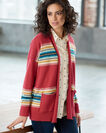 ADDITIONAL VIEW OF WOMEN'S WESTERN HORIZONS CARDIGAN IN RED ROCK