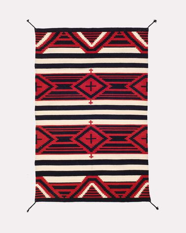 THIRD PHASE CROSSES RUG, RED/BLACK, large