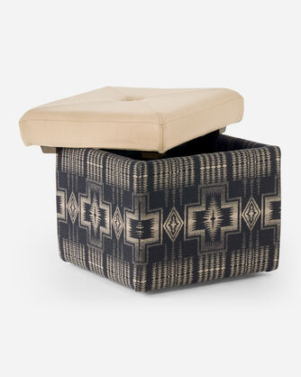 ADDITIONAL VIEW OF FANNIE KAY STORAGE OTTOMAN IN HARDING BLACK/BUCKSKIN