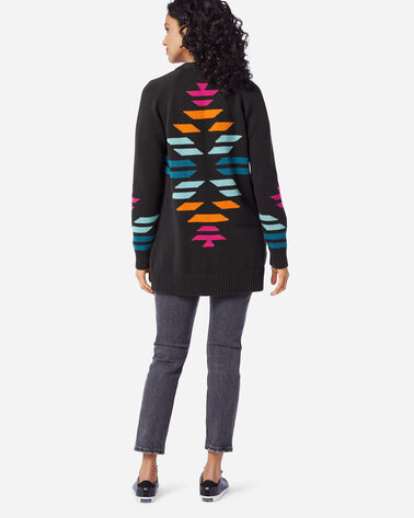 ADDITIONAL VIEW OF WOMEN'S CACTUS BLOOM CARDIGAN IN CHARCOAL