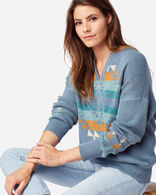 WOMEN'S GRAPHIC COTTON SWEATER