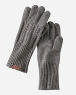 CABLE GLOVES IN GREY