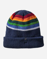 REVERSIBLE NATIONAL PARK STRIPE BEANIE IN CRATER LAKE STRIPE