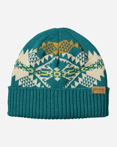 KNIT HAT IN JOURNEY WEST TURQUOISE