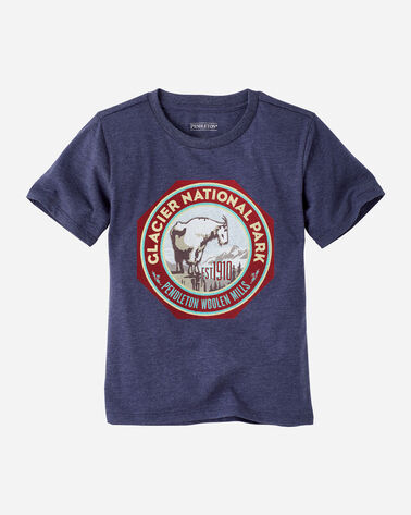 KIDS' NATIONAL PARK GRAPHIC TEE IN NAVY HEATHER GLACIER