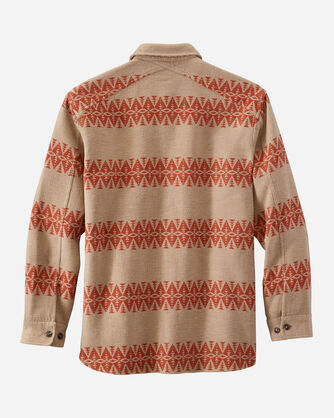 ALTERNATE VIEW OF MEN'S DOUBLESOFT FLANNEL DRIFTWOOD SHIRT IN TAN/RED MULTI