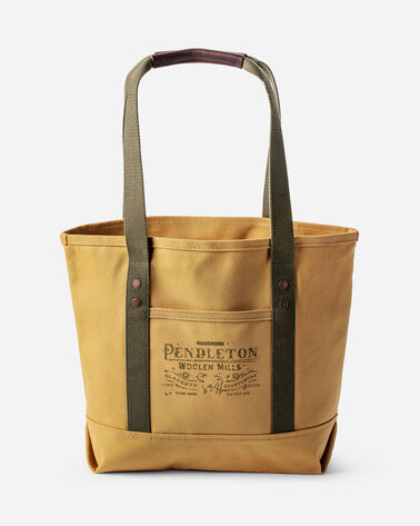 COTTON CANVAS TOTE, TAN, large
