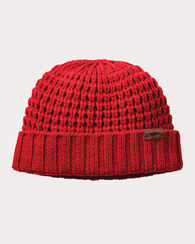 CHUNKY KNIT BEANIE, RED, large