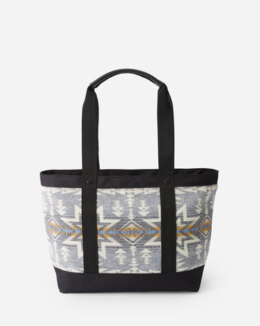 ALTERNATE VIEW OF PLAINS STAR ZIP TOTE IN GREY