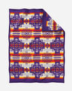 ADDITIONAL VIEW OF CHIEF JOSEPH CRIB BLANKET IN PURPLE