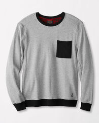 FRENCH TERRY CREW PULLOVER, LIGHT GREY HEATHER, large