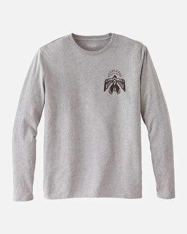 MEN'S LONG-SLEEVE GRAPHIC TEE IN LIGHT GREY HEATHER