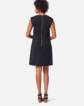 ALTERNATE VIEW OF SEASONLESS WOOL CHARLI SHIFT DRESS IN BLACK