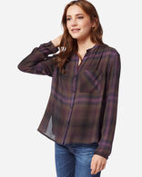 WOMEN'S HELENA MANDARIN COLLAR SHIRT