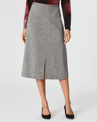RICHMOND DONEGAL SKIRT, BLACK/IVORY, large