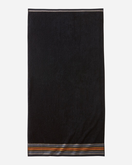SERAPE BATH TOWEL IN BLACK