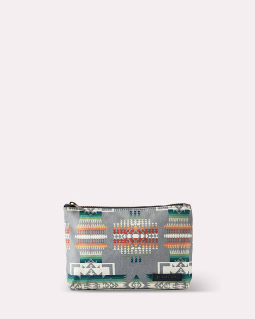 CHIEF JOSEPH CANOPY CANVAS ZIP POUCH, GREY, large