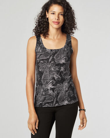 PAISLEY TANK TOP, GREY PAISLEY, large
