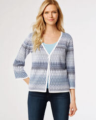 MYA CARDIGAN, WHITE MULTI, large