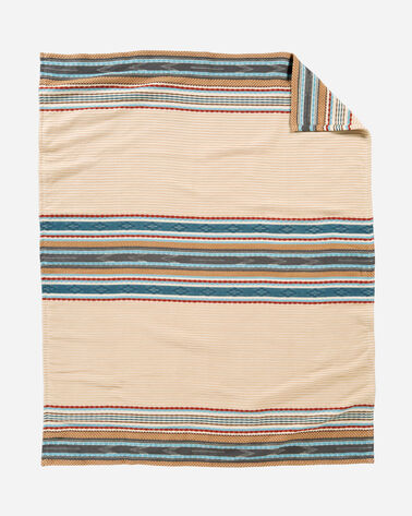 ADDITIONAL VIEW OF ESCALANTE RIDGE COTTON THROW IN CAMEL