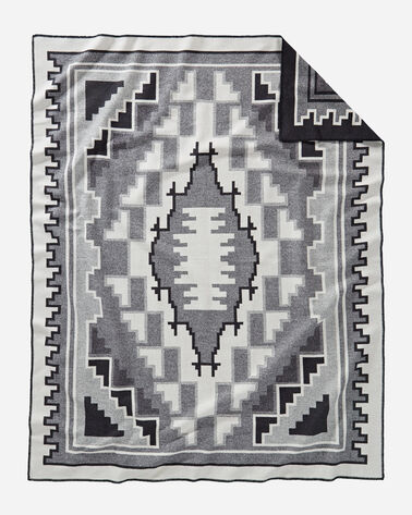 ADDITIONAL VIEW OF MARY HENDERSON WEAVERS SERIES BLANKET IN BLACK