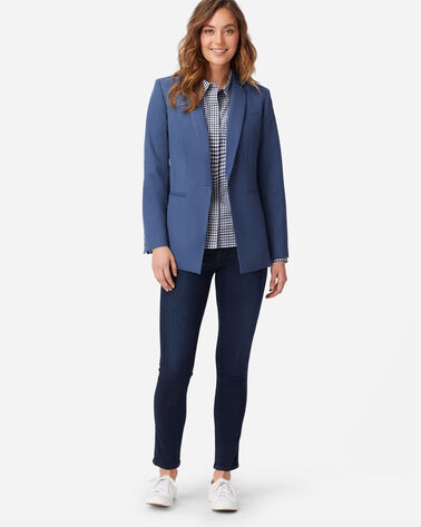 ALTERNATE VIEW OF WOMEN'S SEASONLESS WOOL BLAZER IN PRUSSIAN BLUE