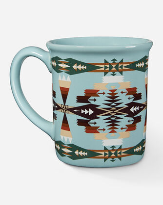 TUCSON JACQUARD COFFEE MUG IN AQUA